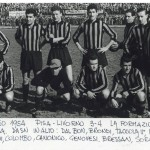 1954 La formazione nerazzurra saconfitta in casa dal Livorno