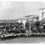 1963-64 Si socializza prima dell'infuocato derby in una Arena gremita