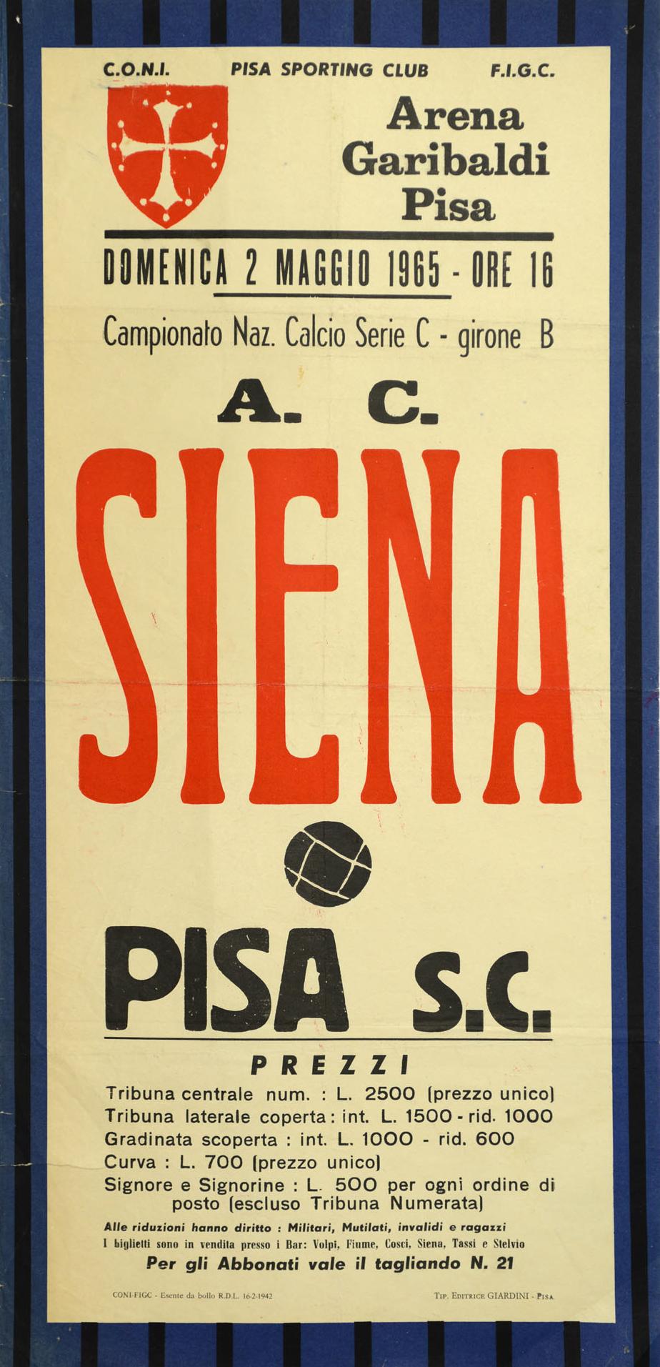 1964-65_Pisa-Siena_locandina_