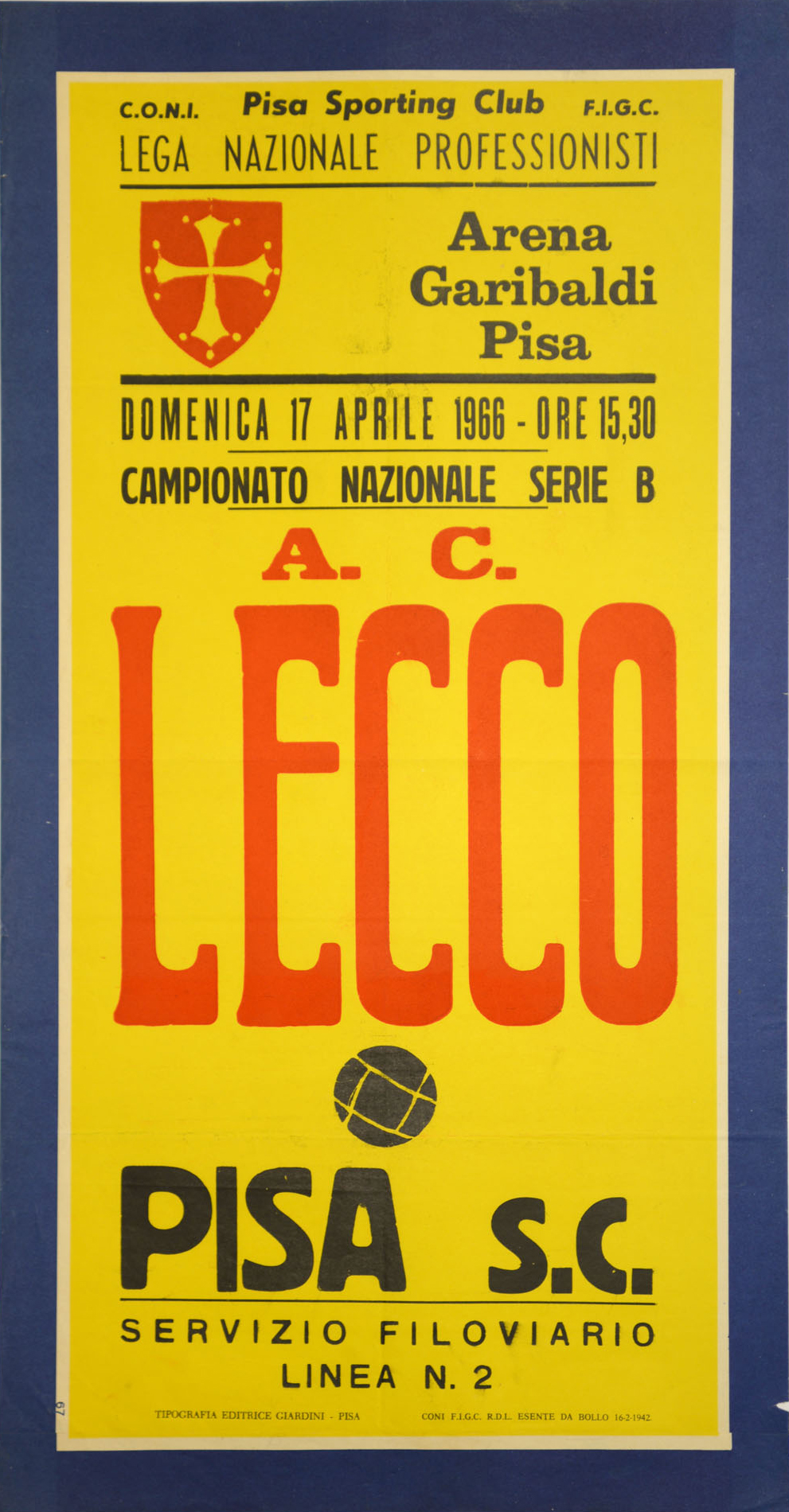 1965-66_Pisa-Lecco_locandina_