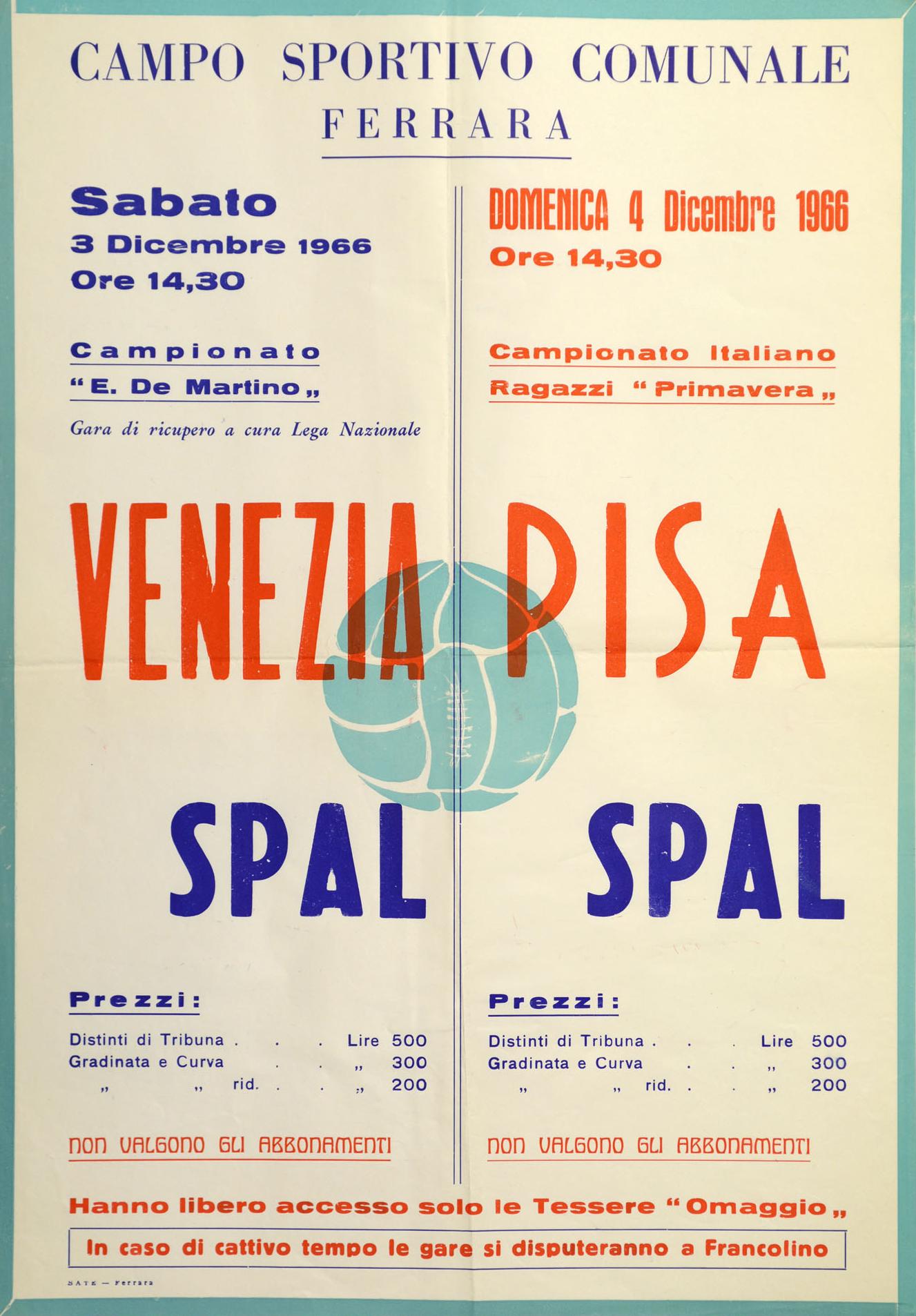 1966-67_Spal-Pisa_locandina_Primavera