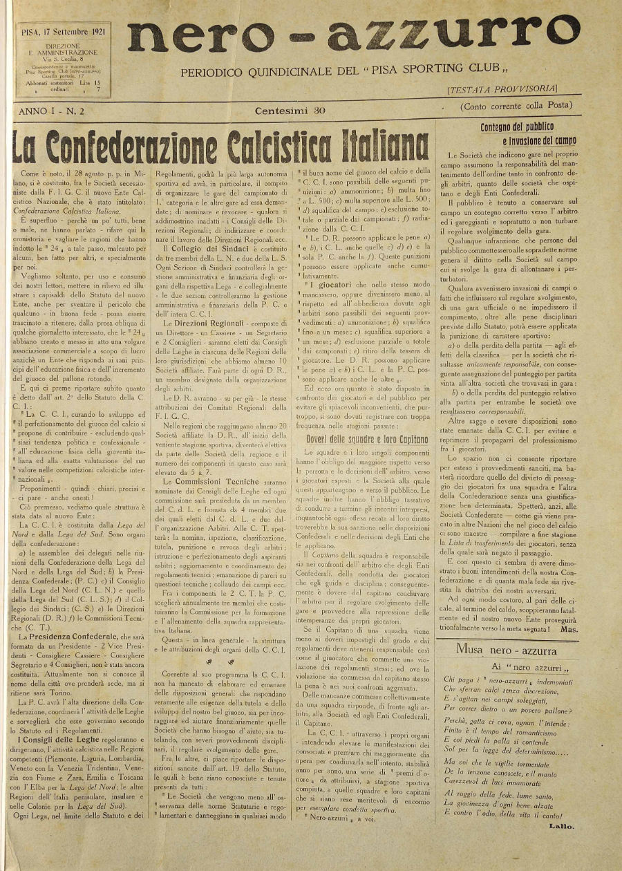 Anno I - N.2 - 17 set 1921